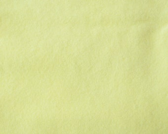 Soft Yellow Hand Dyed Felted Wool Fabric - Hand Dyed - - 100% Wool