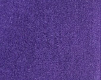 Dark Purple Hand Dyed Felted Wool Fabric - Hand Dyed - - 100% Wool