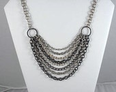 FREE SHIPPING -  .....  8 Strand Chain Statement Necklace