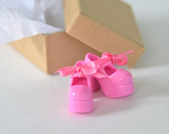 Perfect Pink Mary Janes Custom Shoes for Blythe Doll