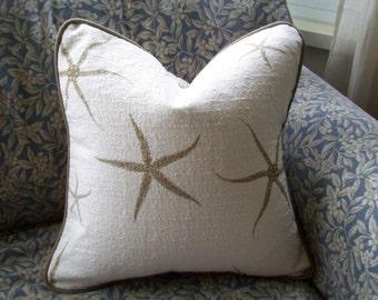 Starfish Pillow Cover Coastal Pillow Toss Pillow Throw Pillow 16 inch pillow cover