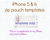 iPhone 5 & 6 Zip Pouch Templates