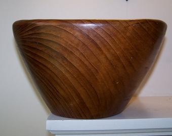 Mid Century Modern, Burled Wood, Bullet Bowl, Salad Bowl, Serving Bowl, Organic Shape, Asymmetrical design, Wooden Bowl,  Serving Bowl