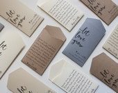 Neutral Personalized Seed Packet Wedding Favors - Many Colors Available