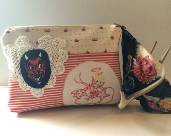 I'm No Angel Gypsy Pouch - Clucth - Devil and Angels - Handmade Handbags