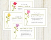Rose Funeral Thank You Card - Digital file - Sympathy thank you note - pick your color