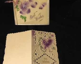 2 Vintage Victorian Greeting Cards