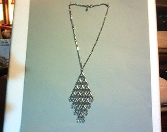 Vintage Sarah Cov. Diamond,Diamond,Diamond Necklace..1960s
