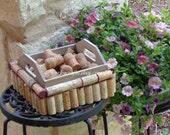 Wine Cork napkin holder, gift card holder, table decor,  rustic wedding