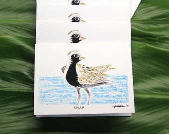 """Kōlea (Pacific Golden Plover), 4-Pack Greeting Cards, 4"""" x 6"""""""