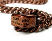 Hex Nut Necklace, Copper Necklace,  Gladiator, Gifts For Him, Gifts For Dad, Industrial Chic, Mens Accessories, Metal Necklace, Rugged, Hero