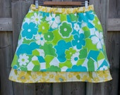 A-Line Cotton Skirt Featuring Houses - With Pockets!