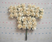 Cream Paper Millinery Flowers (36)
