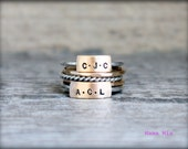 Design Your Own Hand Stamped Stacking Name Ring