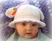 Beatrice The Bunny Hat 738PDF Crochet Pattern infants to adults