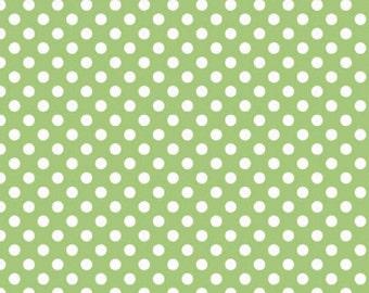 Green Small Dots Fabric by Riley Blake Designs - by the Yard - 1 Yard - Green Dot Fabric - C350-30