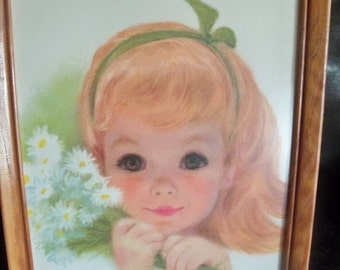 darling print of innocence and beauty of a child framed