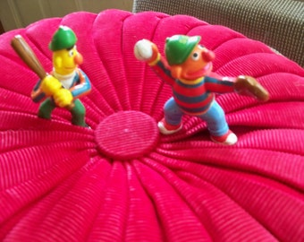 Bert and Ernie baseball time Muppets  inc.  rubber figurines