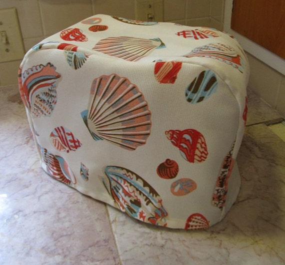 beach and sea shells theme 2 slice toaster cover non quilted. Black Bedroom Furniture Sets. Home Design Ideas