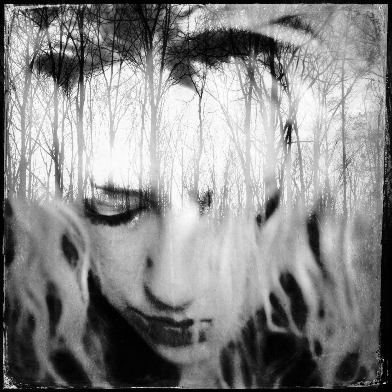 surreal portrait dreamy portrait woman nature photo trees
