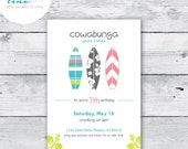 Surfer Girl - Beach/Pool Party - Printable PDF Invitation - Great for Birthday or Shower!