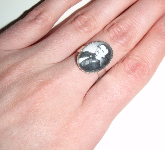 edgar allan poe portrait ring