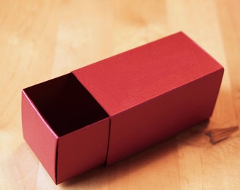 2 Piece Slide Box - Blank Favor Box - Truffle/Caramels/Bon Bon - Metallic