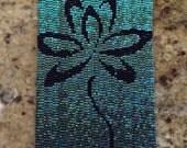 Green Ombre Lotus Cuff Bracelet