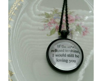 Led Zeppelin lyric quote necklace- Thank You lyric quote necklace