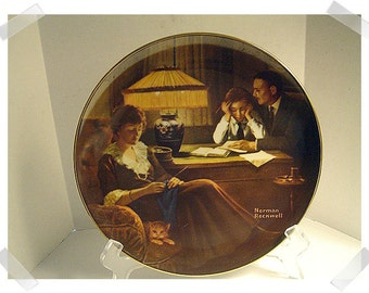 Norman Rockwell Collectible Plate/ 1983 & 1984/Single OR Set of 2 assorted/Vintage*