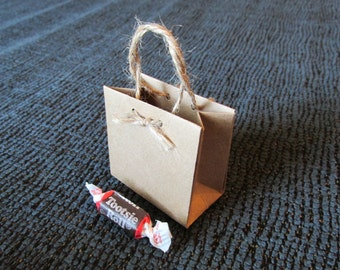 Ultra Mini Kraft Paper Bag - Kraft Gift Bag - Favor Bag - Treat Bag (set of 10)