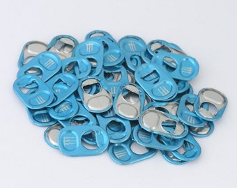50 light blue monster energy tabs shipped from Europe - baby blue, soda tabs, can tabs, ring pulls, pull tabs