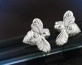Silver Mini Bee Earrings