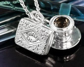Silver Tea and Biscuits Necklace