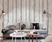 Birch Tree Peel & Stick Wallpaper - wall decal - wall sticker
