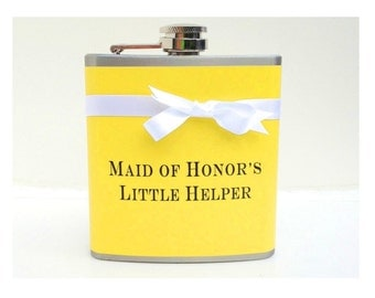 Maid of Honor Gift, Bridesmaids Flasks, Bachelorette Party Favors, Funny Flask, Mother of the Bride, Bridal Shower Gift