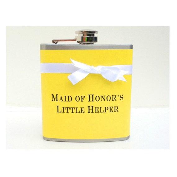 Items Similar To Maid Of Honor Gift, Bridesmaids Flasks