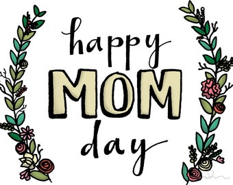 Happy MOM Day! - A6 greeting card