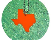 Orange Texas Necklace - Large Size - Laser-Cut Acrylic on Ball Chain