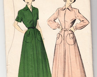 Vintage 1949 Advance 5185 FF Sewing Pattern Misses' Dress Size 12 Bust 30