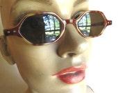 Vintage 1970's Tortoise Shell Octagon Sunglasses
