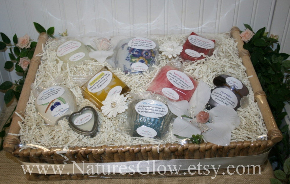 Candle Poem For Wedding Gift: Candle Bridal Basket With Candle Poem Wedding Gift Basket