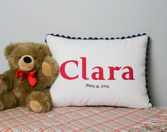 Personalized baby pillow by abacusathome