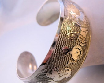 Vintage Chinese Zodiac Animal Cuff Bracelet Jewelry Jewellery FREE SHIPPING