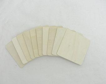 "3"" Wooden squares, large wood squares, set of 10"