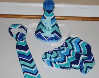 boys first birthday outfit, light blue, navy blue, white, boys 1st birthday outfit, first birthday hat, birthday tie, diaper cover