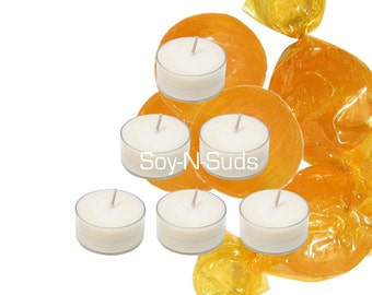 BUTTERSCOTCH Soy Tea Light Candles