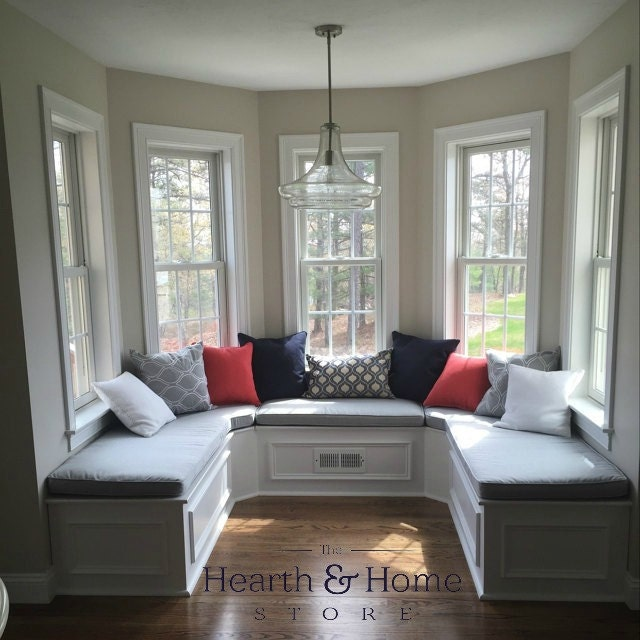 Custom Banquette Seating: Custom Cushion Sewn Banquette Seat Bench Cushion With