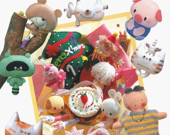 Out-of-print Super Cute Felt Characters Collection - Japanese craft book