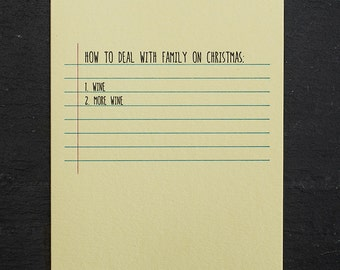 holiday: family. letterpress card. #662
